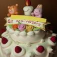 開店記念日のケーキ