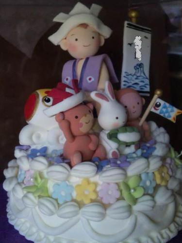 五月人形のケーキ